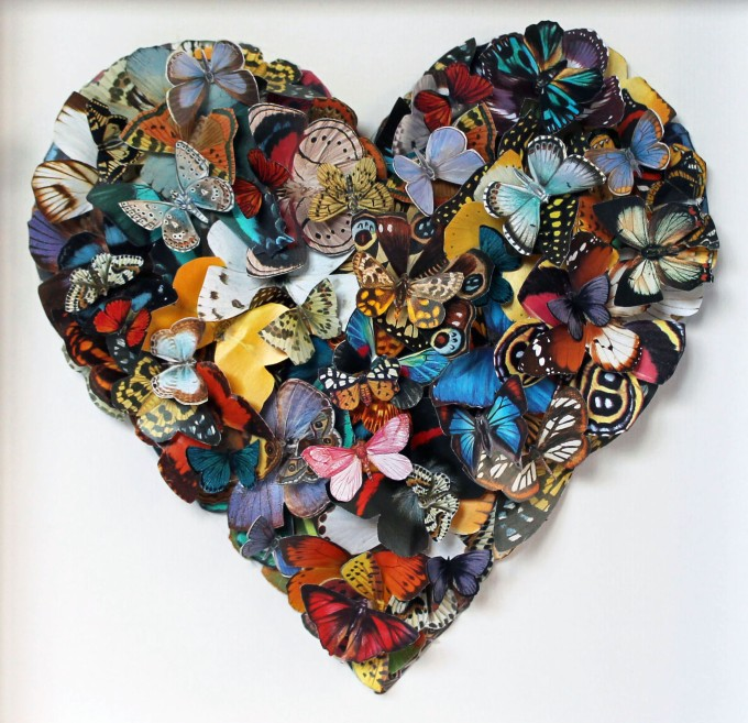 3- dimensional paper collage